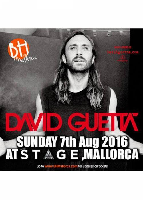 Cartel de Concierto de David Guetta en Magaluf