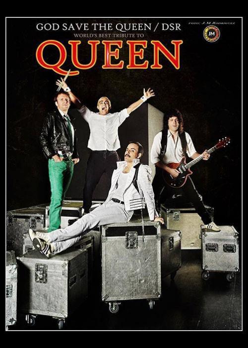 Cartel de Concierto de God Save The Queen en Alcúdia