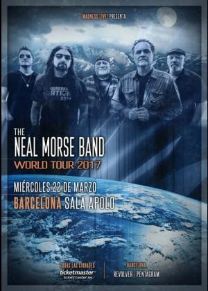 Cartel en baja resolución del Concierto de Neal Morse Band en Barcelona