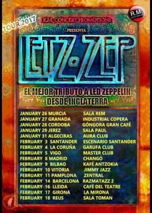Concierto de Letz Zep en Barcelona