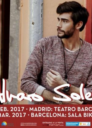 Cartel en baja resolución del Concierto de Alvaro Soler en Barcelona