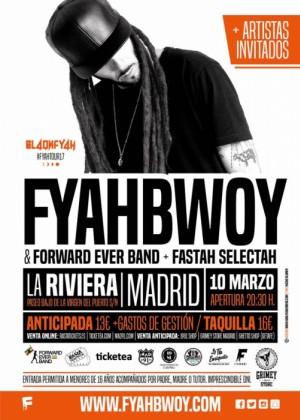 Concierto de Fyahbwoy & Forward Ever Band en Madrid