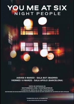 Cartel en baja resolución del Concierto de You Me At Six en Barcelona
