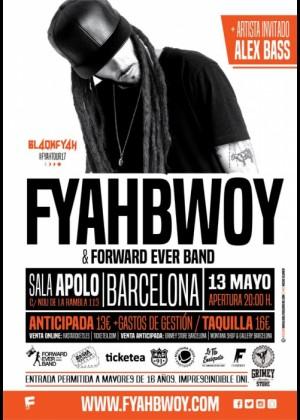 Cartel en baja resolución del Concierto de Fyahbwoy en Barcelona