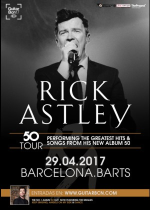 Concierto de Rick Astley en Barcelona