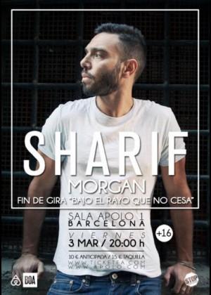 Cartel en baja resolución del Concierto de Sharif en Barcelona