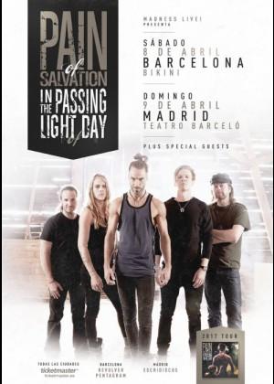 Cartel en baja resolución del Concierto de Pain of Salvation en Barcelona