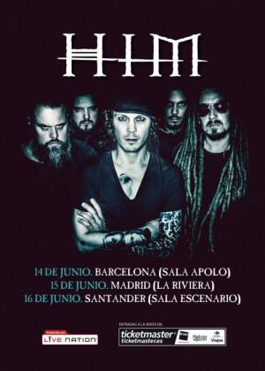 Cartel en baja resolución del Concierto de HIM en Barcelona