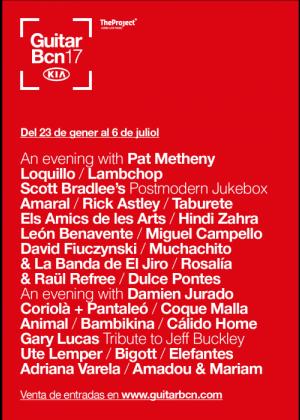 Cartel en baja resolución del Concierto de Coque Malla en Barcelona