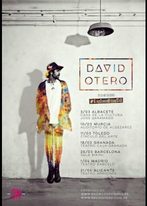 Cartel en baja resolución del Concierto de David Otero en Barcelona