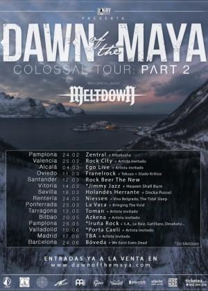 Concierto de Dawn of The Maya en Ponferrada (León)
