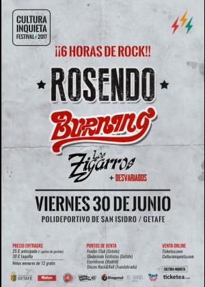 Concierto de Rosendo, Burning y Los Zigarros en Getafe (Madrid)